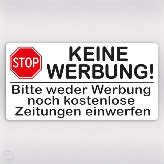 Keine Werbung Stop Schild Aufkleber Bitte Keine Werbung Kleber Shop